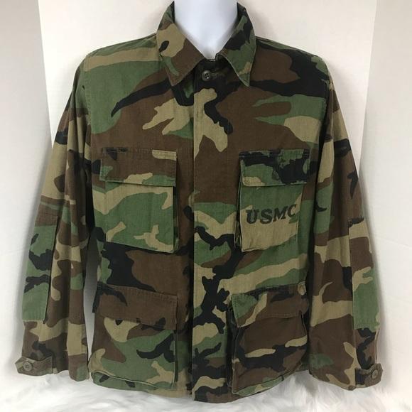 1b727dc5c6400 USMC Jackets & Coats | Vintage Woodland Camo Combat Coat Jacket ...